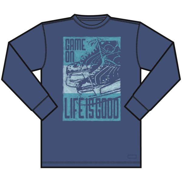 Life is Good Men's Crusher L/S Tee Game On