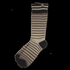 Life is Good Men's Heavy Guage Crew Socks, Green/Brown Stripe