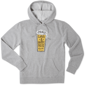 Men's Go To Hoodie, Peace, Love, Hoppiness
