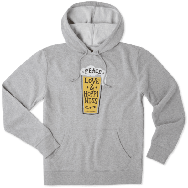 Men's Go To Hoodie Peace, Love & Hoppiness Beer