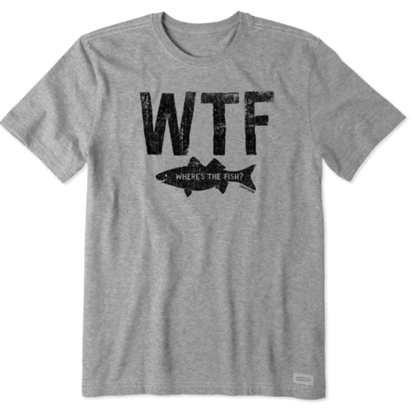 Men's Crusher Tee, WTF Fish