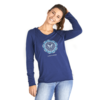Womens L/S Hooded Tee, Butterfly