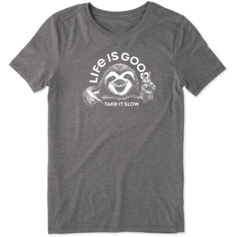 Womens Cool Tee, Take it Slow Sloth