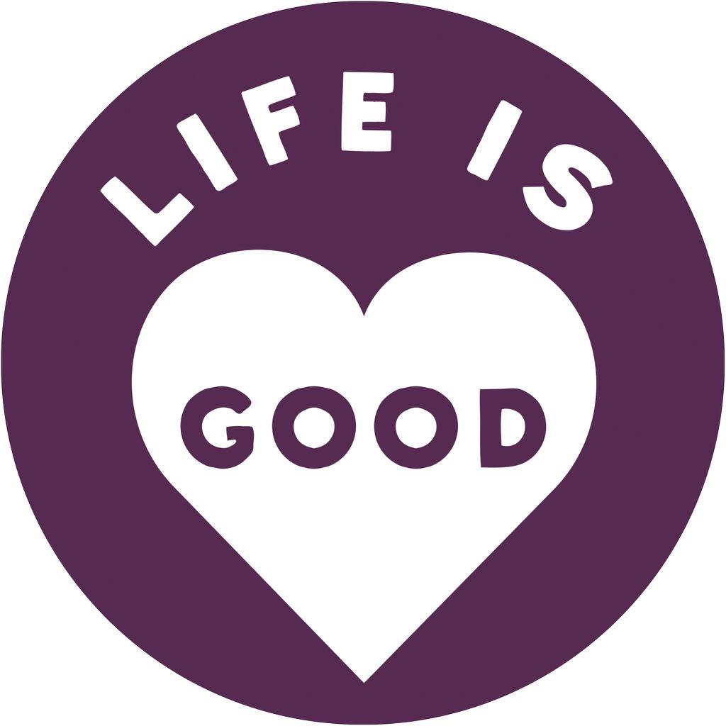 d8744143657 LIG Circle Magnet Heart br     br    Life is Good Circle Magnet - 4 ...