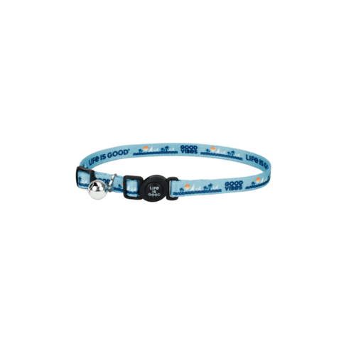 Beach Cat Collar, Beach Blue