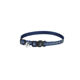 Reflective Cat Collar, Happy Trails, Darkest Blue