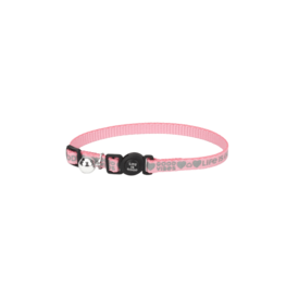 Reflective Cat Collar, Good Vibes, Happy Pink