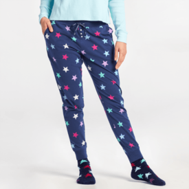 Life is Good Womens Snuggle Up Sleep Jogger, Stars