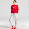 Womens Snuggle Up Sleep Pant, Believe Snowflakes
