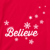 Womens Crusher L/S Tee Believe Snowflakes