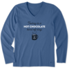 Womens Crusher L/S Tee Hot Chocolate Kind of Day