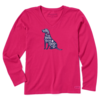Womens Crusher L/S Tee Home is Where Your Dog Is