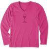 Womens Crusher L/S Vee Earthy Wine