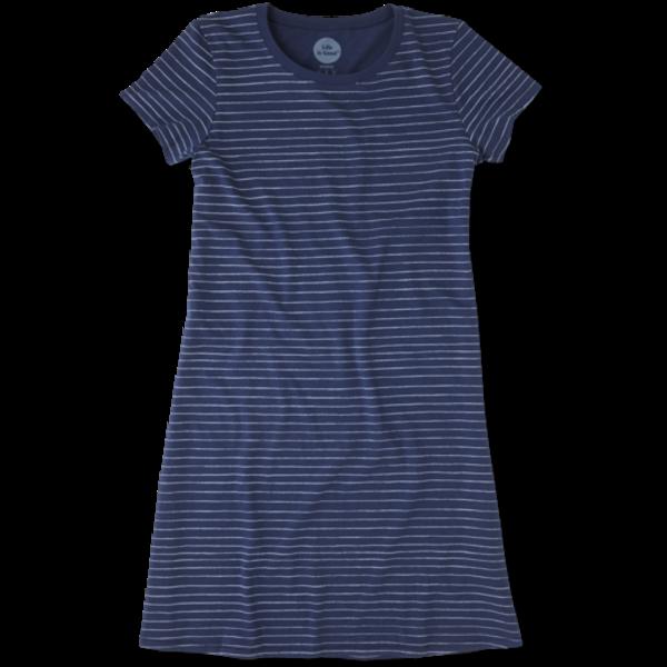 Life is Good Womens T-Shirt Dress Stripes
