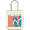 Canvas Messaging Tote, Go Places
