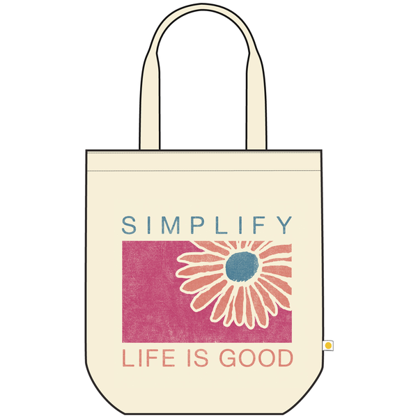Life is Good Canvas Messaging Tote, Simplify