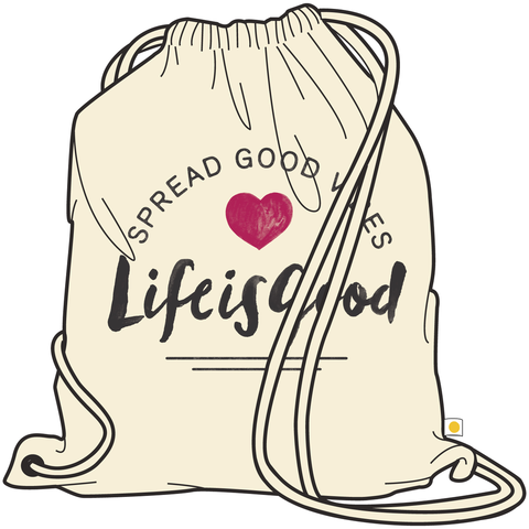 Canvas Messaging Cinch Sack, Spread Good Vibes