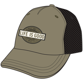Life is Good Mesh Back Chill Cap, DWYL, Woodland Green