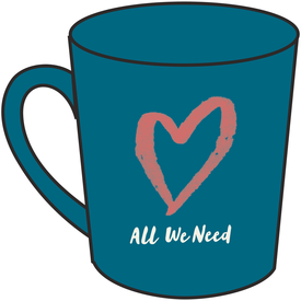 Life is Good Everyday Mug, All We Need, Denim Blue