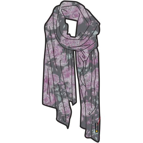 Floral Market Scarf, Slate Grey