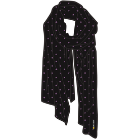 Life is Good Floral Market Scarf, Night Black