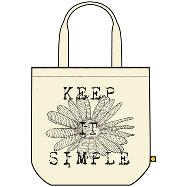 Life is Good Recycled Tote, Keep It Simple Daisy