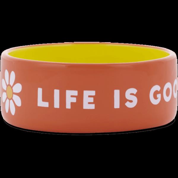 Life is Good Large Dog Bowl LIG Daisy