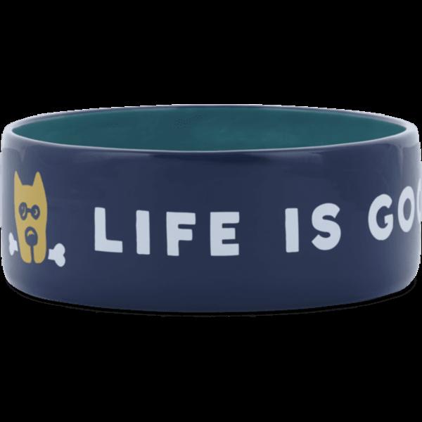 Life is Good Large Dog Bowl LIG Rocket