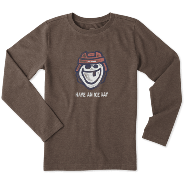 Life is Good Boys L/S Crusher Tee, Have an Ice Day Hockey