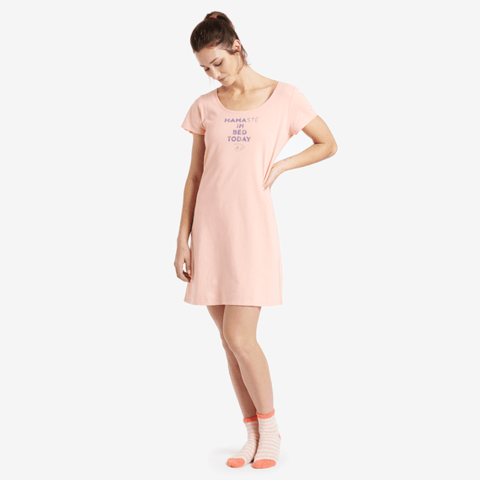Womens Sleep Dress, Namaste