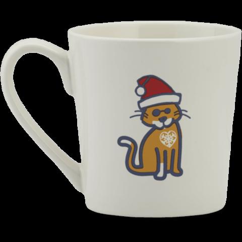 Everyday Mug, Santa Cat, Cloud White