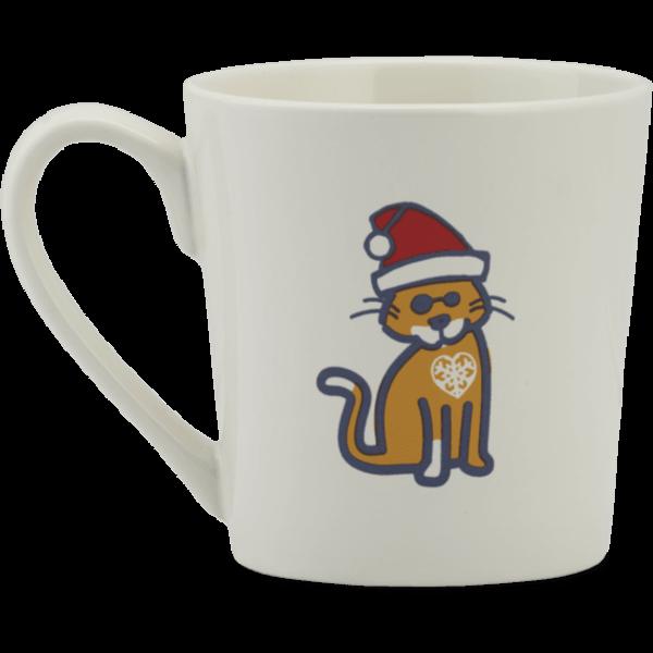 Everyday Mug, Santa Cat Snowflake