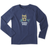 Boys L/S Crusher Tee, Fishing Buddy Dog
