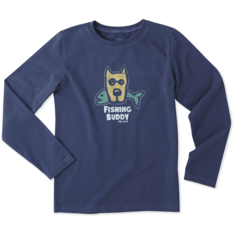 Boys L/S Crusher Tee, Fishing Buddy