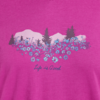 Womens L/S Hooded Tee, Wildflowers