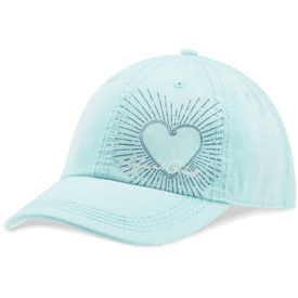 Sunwashed Chill Cap, Heart, Cool Aqua