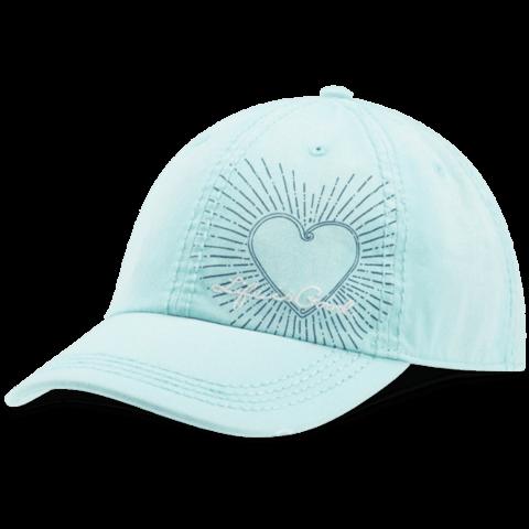 Sunwashed Chill Cap, Heart, Cool Aqua