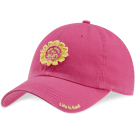 Tattered Chill Cap, Sun, Pop Pink