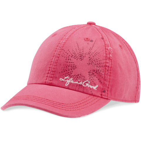 Sunwashed Chill Cap, Star, Pop Pink