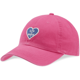 Chill Cap, Life is Good Heart, Pop Pink