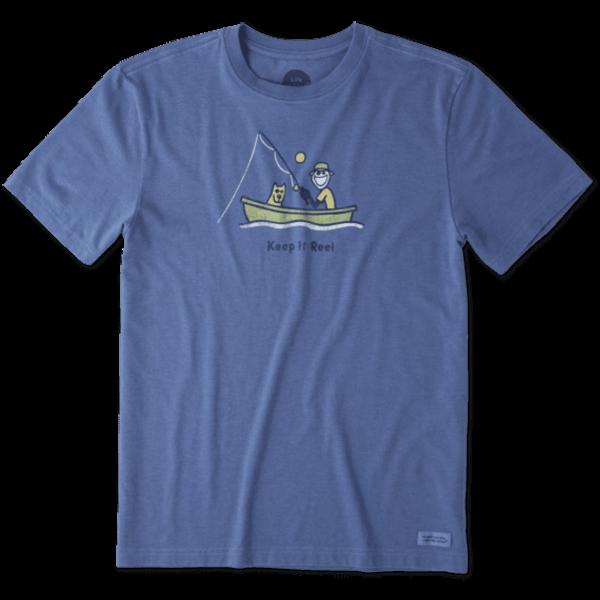 Men's Crusher Tee, Keep it Reel Fishing Jake Rocket