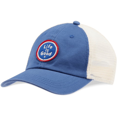 Soft Mesh Back Chill Cap, Life is Good, Vintage Blue