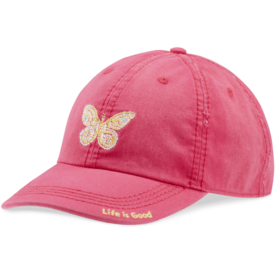 Sunwashed Chill Cap, Butterfly, Pop Pink