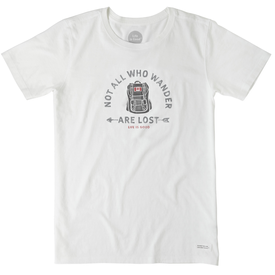 Life is Good Womens Crusher Tee, Not All Who Wander Canada
