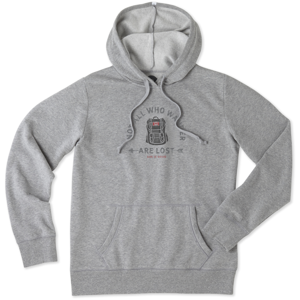 Life is Good Womens Hoodie, Not All Who Wander Are Lost