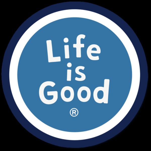 "LIG Circle Magnet <br /><br />Life is Good Circle Magnet - 4"""