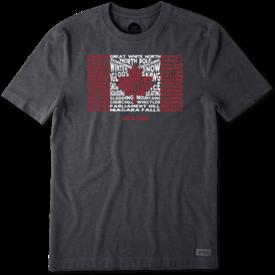 Men's Crusher Tee, LIG Canada Flag