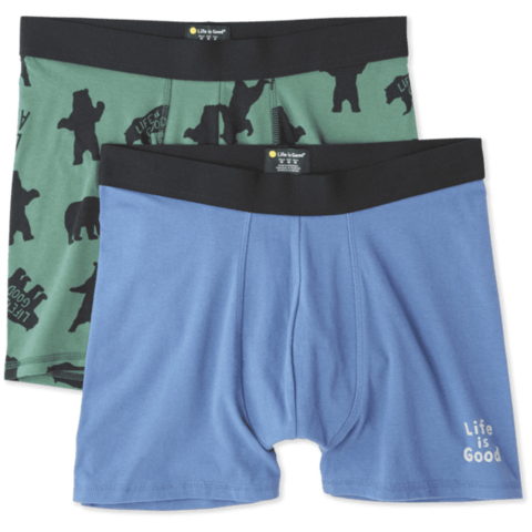 Men's Knit Boxer Brief Set, Bear