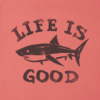 Boys Crusher Tee Life is Good Shark