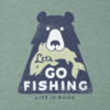 Boys Cool Tee Let's go Fishing Bear